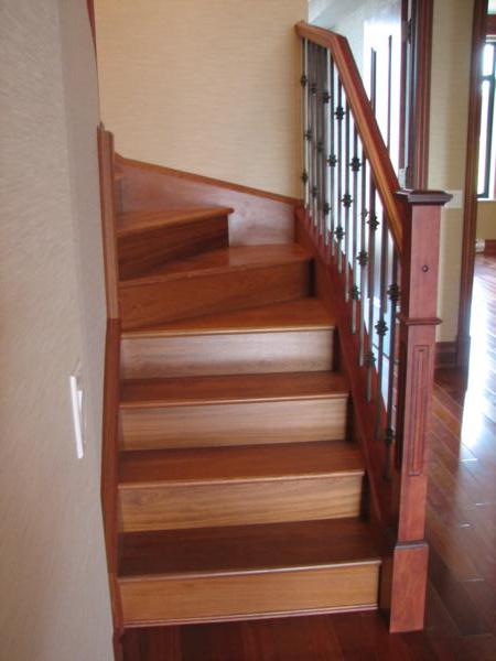 Stair railings for wood stairs in wrought iron, wood or glass. At ...
