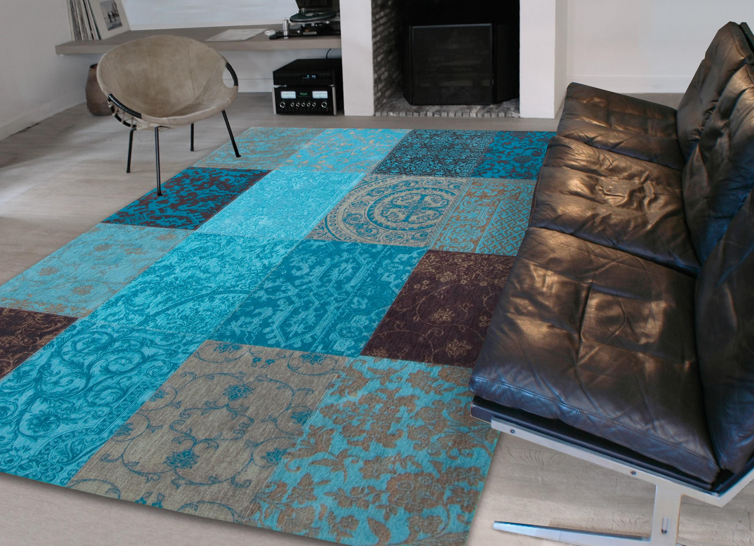Carpette Multi Design Vintage Blue